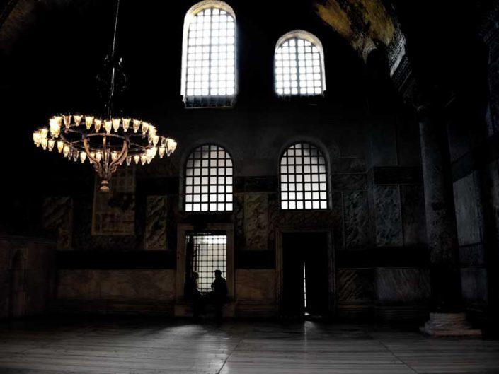 Ayasofya içeriden görünüm - a view from inside the Hagia Sophia
