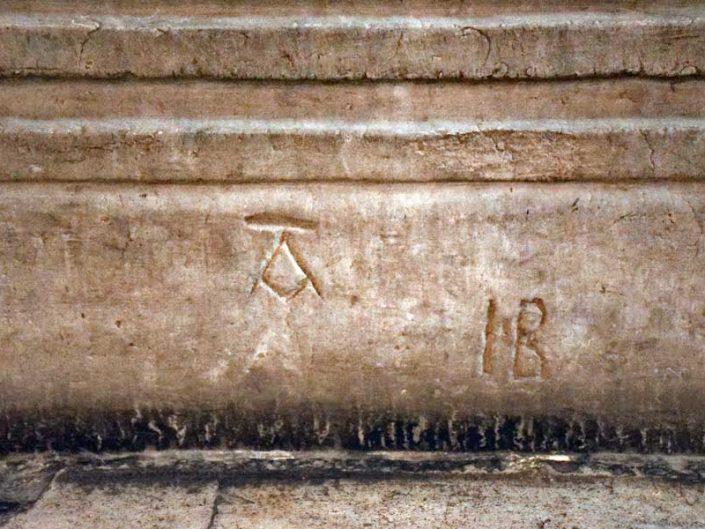 Ayasofya işaretler - Signs in Hagia Sophia