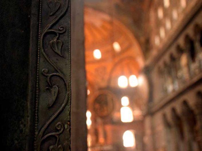 Ayasofya imparator kapısı detayı - Emperor door detail of the Hagia Sophia