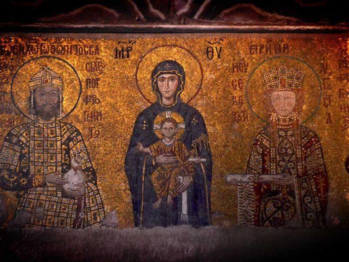 Ayasofya mozaikleri Komnenos ve Eirene mozaiği - mosaics of Hagia Sophia, The Comnenus and Eirene mosaic