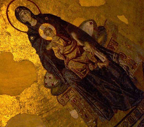 Ayasofya mozaikleri Meryem Ana ve İsa mozaiği - Hagia Sophia photos Virgin Mary and Christ mosaic
