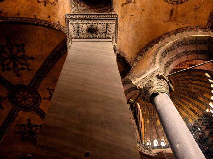 Ayasofya sütun başı detayları - Details of column head, Hagia Sophia