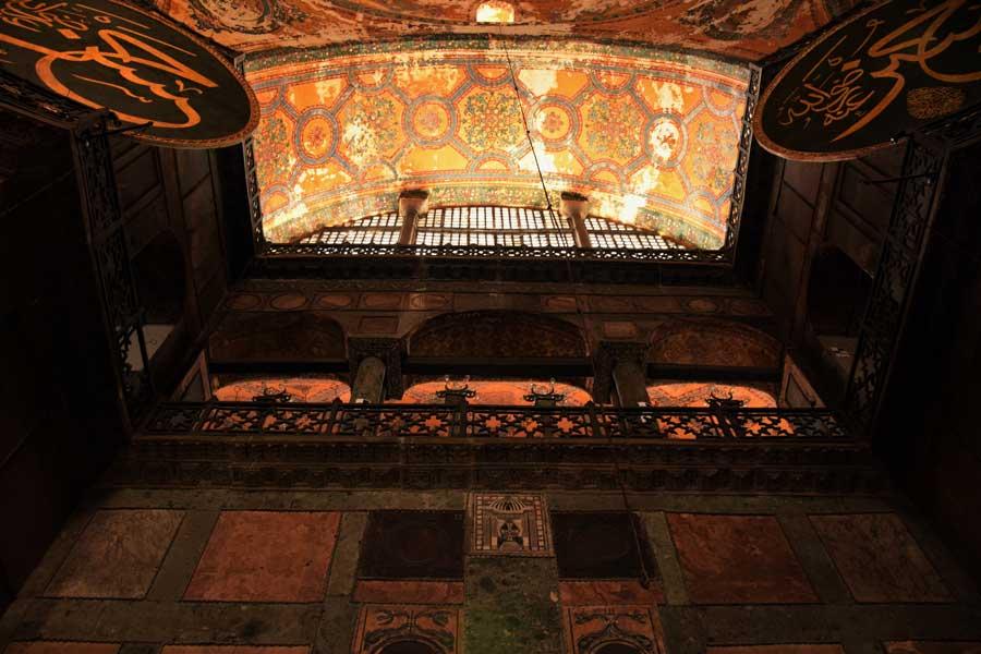 Ayasofya tavan süsleri ve mermer levhalar - Hagia Sophia photos marble plates and ceiling decoration