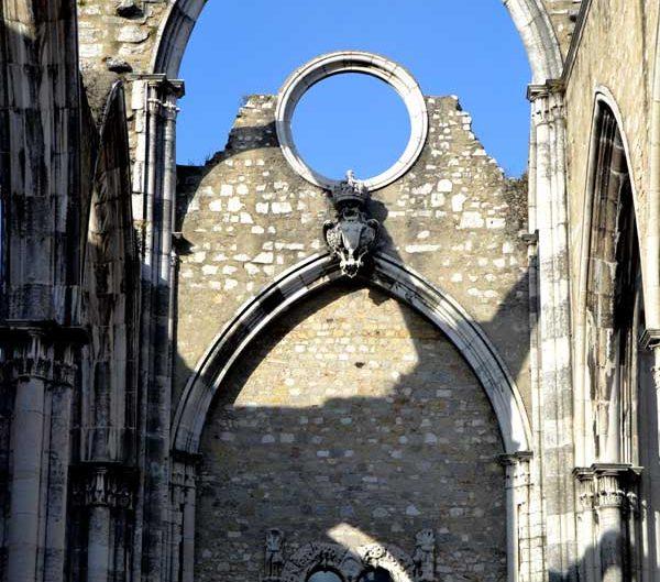 Carmo Rahibe Manastırı Kilisesi gül penceresi - Carmo Convent (Convento do Carmo) rose windows