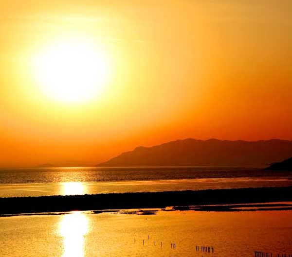 Dilek yarımadası Aydın Büyük Menderes Deltası Milli Parkı Ege bölgesi - sun is shining, Dilek Peninsula National Park Turkey Aegean region
