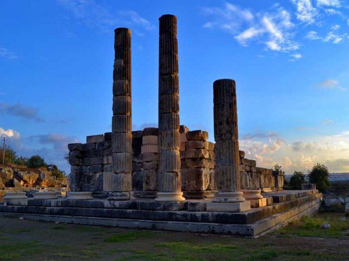 Letoon antik kenti fotoğrafları Leto tapınağı - the Mediterranean region Letoon ancient city photos Leto Sanctuary