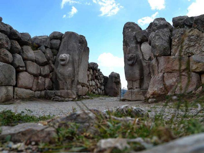 Hattuşa Aslanlı Kapı, Boğazköy Hattuşa fotoğrafları, Çorum - Lion gate at Hattusa Çorum, Turkey