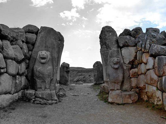 Hattuşa Boğazköy Aslanlı kapı fotoğrafları, Çorum - Hittite Lion gate at Hattusa photos, Turkey