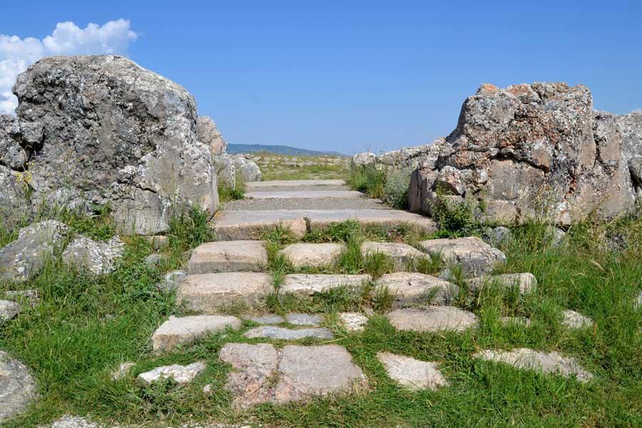 Hattuşa fotoğrafları Boğazköy Hitit Büyük Tapınak harabeleri, Çorum - Ruins of Hattusa Greak Temple, Bogazkoy photos, Çorum Turkey