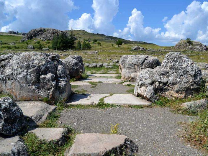 Hattuşa fotoğrafları Hitit Büyük Tapınak harabeleri, Çorum - Ruins of Hattusa Greak Temple, Bogazkoy photos, Çorum Turkey