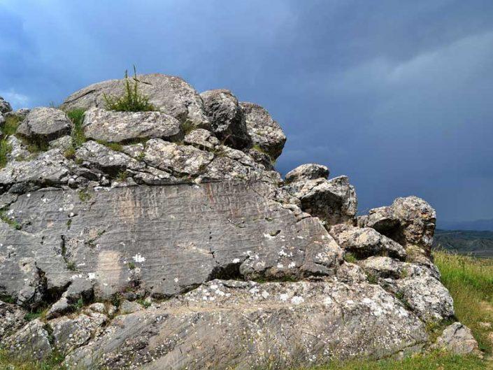 Hattuşa fotoğrafları, Nişantaş veya Nişantepe, Boğazköy Çorum - Hattusa rock inscription at upper city, Çorum Turkey