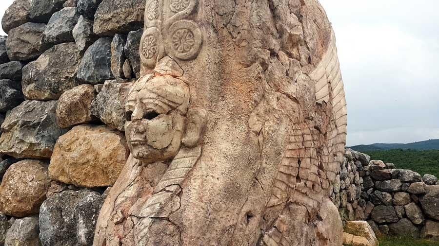 Hattuşa fotoğrafları Sfenksli kapı Çorum - Bogazkoy Hattusa photos Sphinx Gate Turkey
