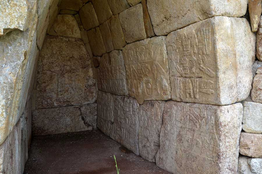 Hattuşa hiyeroglifli oda (2 no'lu oda), Hattuşa Boğazköy fotoğrafları - Hattusa hieroglyph room, Bogazkoy photos, Turkey