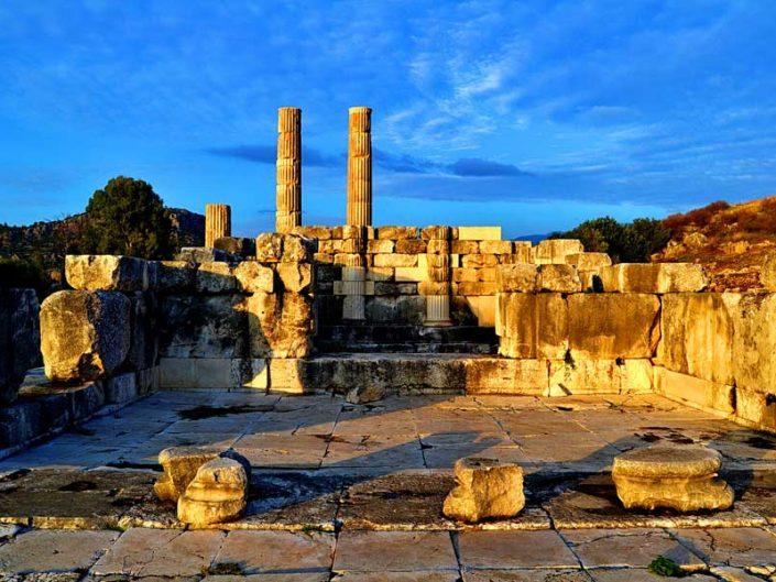 Letoon antik kenti fotoğrafları Leto tapınağı - Turkey the Mediterranean region Letoon ancient city photos Leto Sanctuary