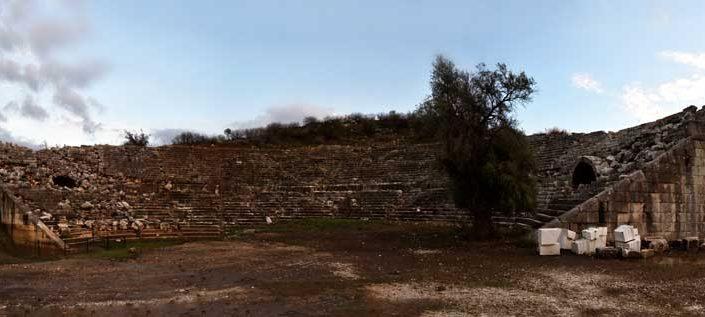 Letoon antik kenti fotoğrafları antik tiyatro - the Mediterranean region Letoon ancient city photos ancient theatre