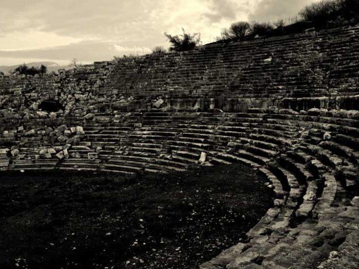 Letoon antik kenti fotoğrafları antik tiyatro Muğla - the Mediterranean region Letoon ancient city photos ancient theatre