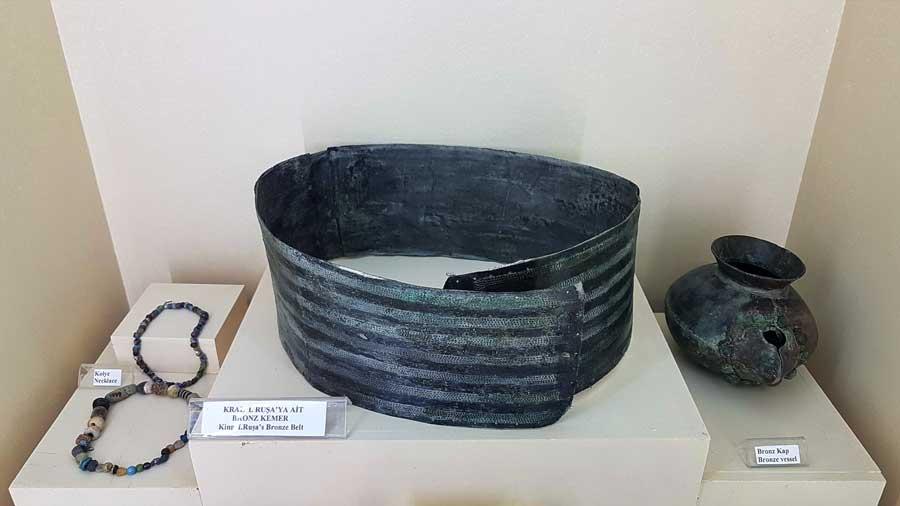 Malatya müzesi eserleri Urartu Kralı 1. Ruşa'ya ait kemer - King I. Ruşa's belt