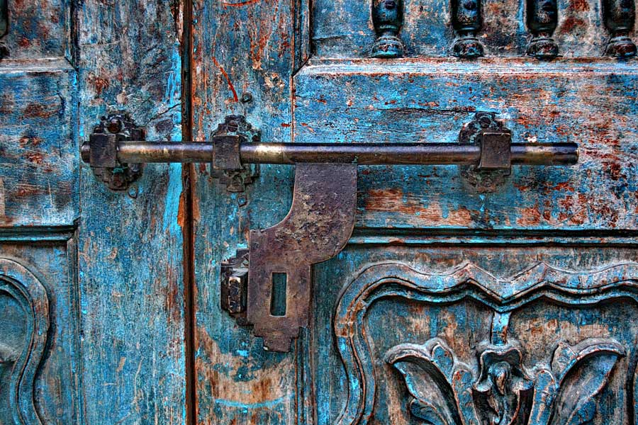 Selçuk Şirince köyü eski Rum evi kapı detayı, İzmir - Historical Greek house door detail of Sirince village, İzmir