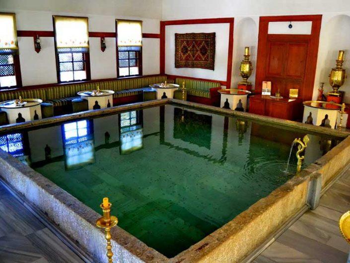 Tarihi Safranbolu evleri iç avlu havuzu, Safranbolu fotoğrafları - Historic safranbolu houses