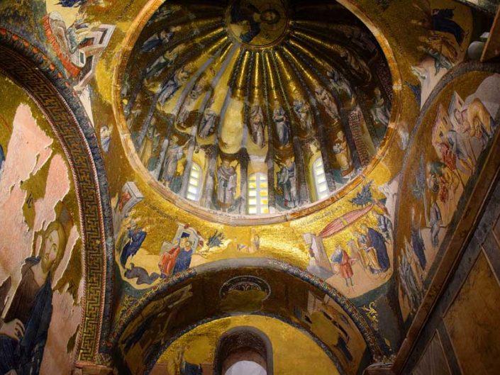 Kariye Kilisesi Müzesi İç Narteks mozaik detayları - The Chora Church Museum details of inner narthex mosaics