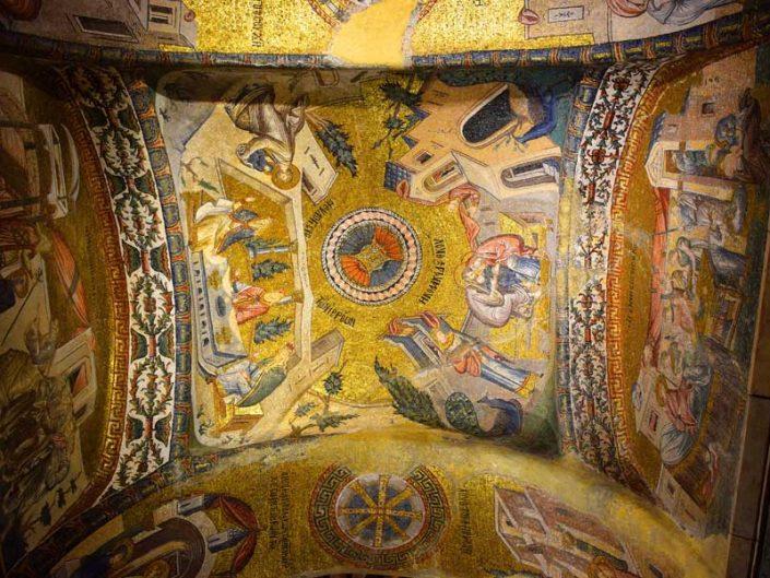 Kariye Müzesi Meryem'in kutsanması ve ebeveynleri tarafından kucaklanması mozaikleri - mosaics of the Virgin is being blessed and caressed