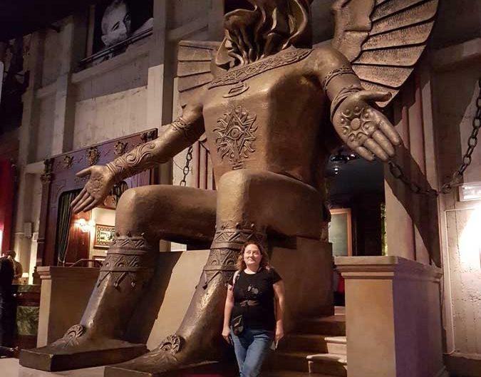 Torino Sinema Müzesi Cabiria filminde kullanılan bronz heykel 1914 - Turin National Museum of Cinema, bronze sculpture used in the movie Cabiria