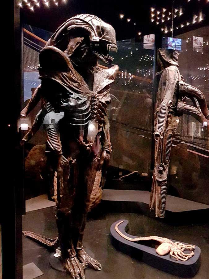 Torino Ulusal Sinema Müzesi Alien filmi Alien gerçek boyutlu modeli 1976 - Turin National Museum of Cinema real scale Alien model 1976