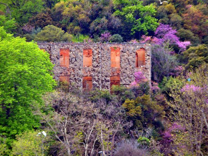 İstanbul Boğazı Baltalimanı harabe halindeki köşk - Bosphorus European Side Baltalimanı Mansion in ruins