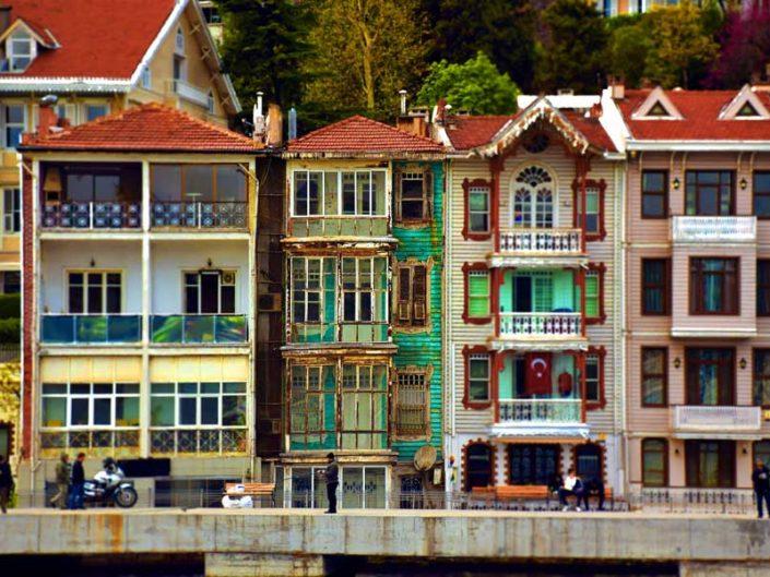 İstanbul Boğazı Kuruçeşme yalıları - Bosphorus European Side Kuruçeşme Mansions