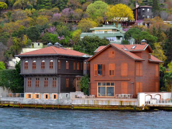 İstanbul Boğazı yalıları Paşalimanı Arapzadeler Yalısı ve Baştımar Yalısı - Bosphorus Anatolian Side Paşalimanı Arapzadeler and Baştımar Mansions