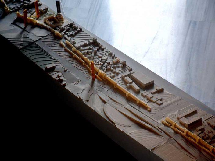 Tekfur Sarayı içi İstanbul kara surları maketi - Model of the Walls of Constantinople inside Tekfur Palace