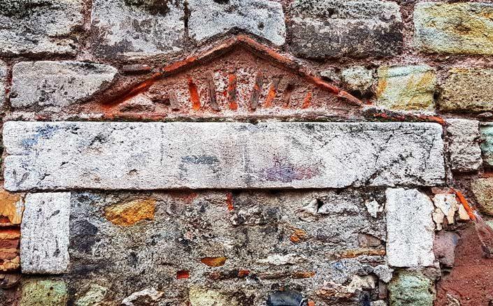 Balat İstanbul surları tarihi dokusu - Balat Walls of Constantinople historical texture
