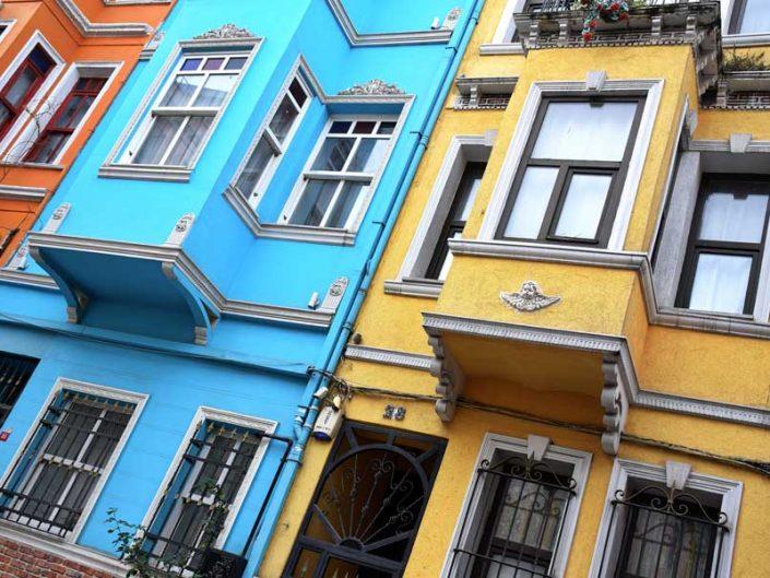 Balat fotoğrafları Rum evleri genel mimarisi - Istanbul Balat photos Rum houses general architecture