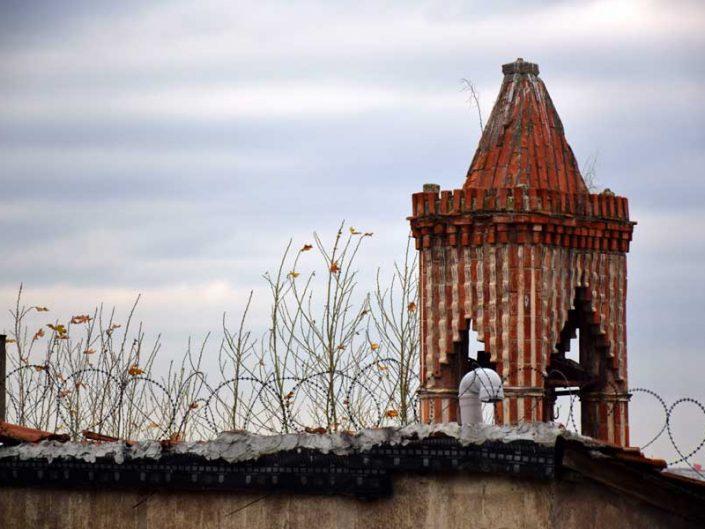 Fener Aya Maria Manastırı veya Kanlı Kilise çan kulesi - bell tower Church of Saint Mary of the Mongols
