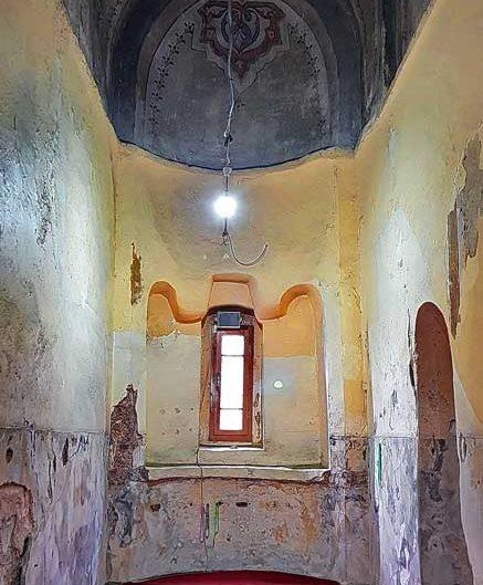 Gül Camii ufak apsis tavan resimleri (eski adıyla St. Theodosia Kilisesi) - Gul Mosque 'The Mosque of the Rose' small apsis ceiling paintings (formerly St. Theodosia Church)