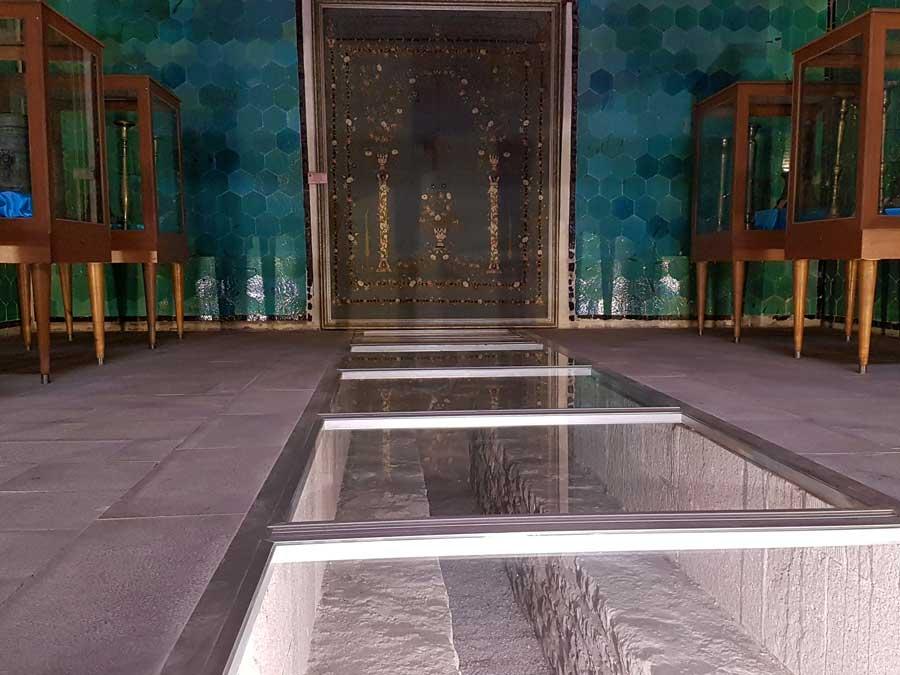 Konya gezilecek yerler Sahip Ata Külliyesi özgün döşemesi - Places to visit in Konya Sahip Ata Museum original flooring