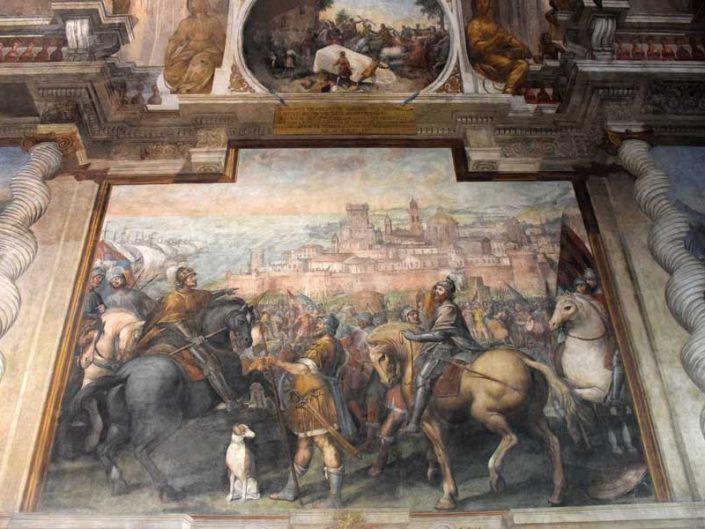 Torino Valentino Sarayı duvar resimleri - Wall murals of the Valentino Palace in Turin