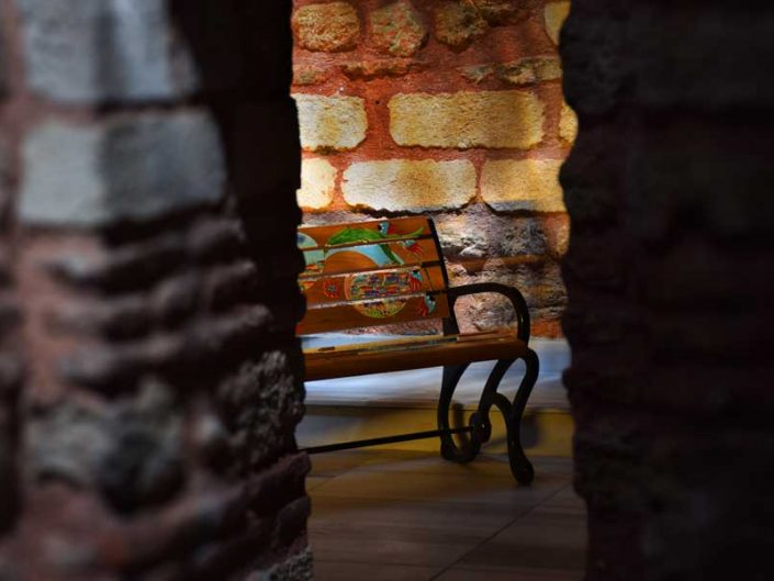 Küçük Mustafa Paşa Hamamı Yeditepe Bienali eserleri - Kucuk Mustafa Pasha historical bath Yeditepe Biennale installations