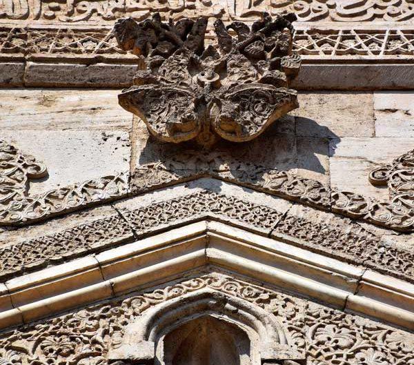 Sivas Çifte Minareli Medrese Taç Kapı üzerindeki bezemeler - Rum Seljuk Sultanate architecture decorations on the portal of the Sivas Cifte Minareli Madrasah