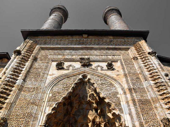 Sivas gezilecek yerler Çifte Minareli Medrese Taç Kapı fotoğrafları - Places to visit in Sivas Cifte Minareli Madrasah portal photos