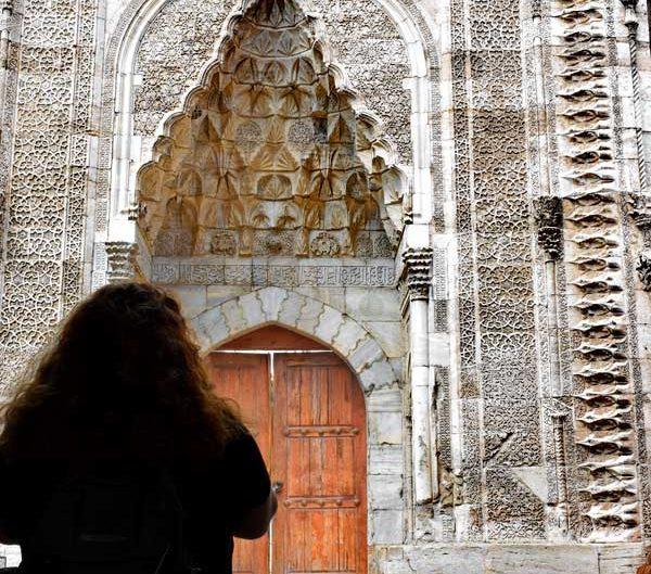 Sivas gezilecek yerler Çifte Minareli Medrese giriş kapısı - Sivas Rum Seljuk Sultanate architecture Cifte Minareli Madrasah portal photos