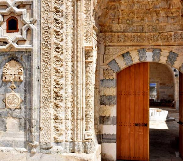 Anadolu Selçuklu Devleti mimarisi Sivas Gök Medrese fotoğrafları, taş işçiliği - Sivas Rum Seljuk Sultanate art Gok Madrasah decorated masonry