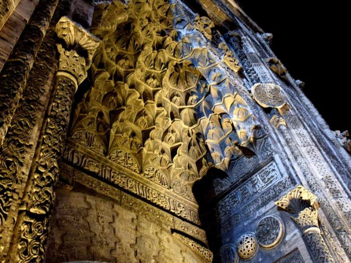 Buruciye Medresesi Taç Kapı mukarnas detayı - Sivas Buruciye Madrasa portal muqarnas details