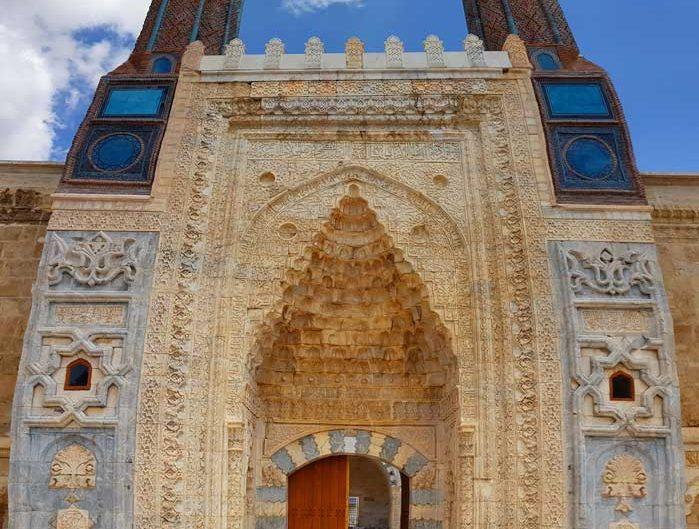 Sivas gezilecek yerler Gök Medrese Taç Kapı - Sivas places to visit Gok Madrasah Portal