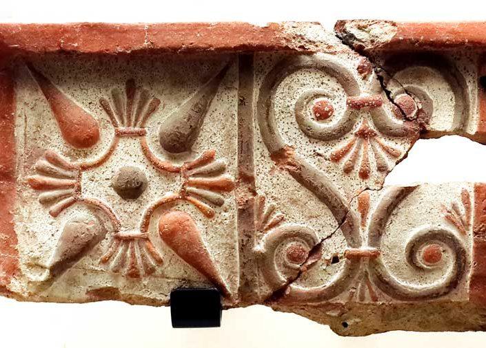 Gordion Müzesi Frig dönemi pişmiş toprak eserleri fotoğrafları - Gordion Museum Phrygian period ceramic relief