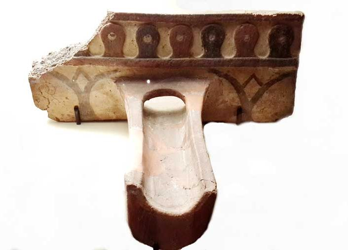 Gordion Müzesi eserleri fotoğrafları Frig dönemi yapı elemanları, çörten - Ankara Gordion Museum Phrygian period building elements, waterspout