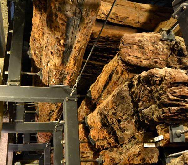Yassıhöyük Midas tümülüsü ahşap çantı tekniği ile yapılan Kral Midas mezar odası - King Midas burial chamber made with 'Çantı' technique Yassıhöyük Midas tumulus