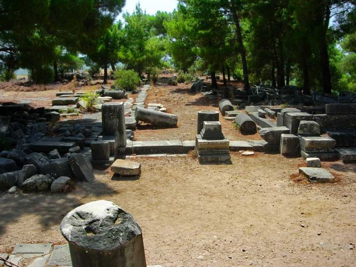 Aydın Söke antik kentler Priene antik kenti fotoğrafları - Priene ancient city photos