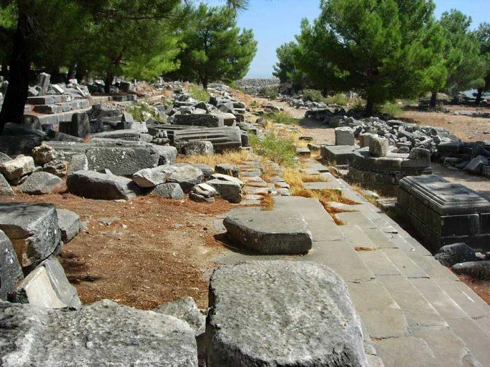 Aydın antik kentleri Priene antik kenti fotoğrafları - Aydin ancient cities Priene ancient city