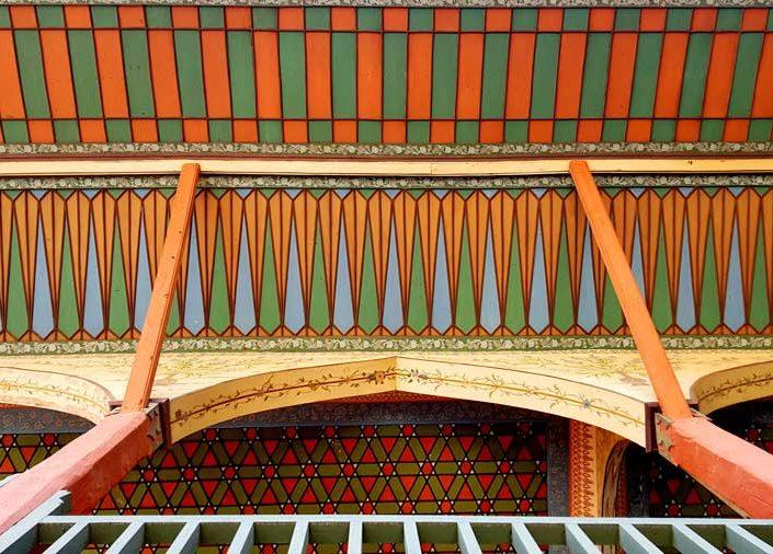 Bakibey Konağı fotoğrafları açık sofa cephesi ve saçak detayı - Bakibey mansion open-sofa and eaves details